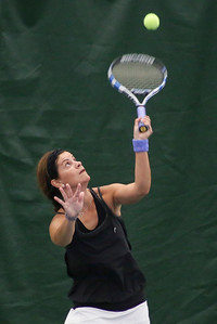 Mike Greene - For Shaw Media  Gina Jasovic during the Women's Open Singles championship match against Linda Rizzo in the McHenry County Tennis Classic Sunday, July 10, 2016 at The Racket Club in Algonquin. Jasovic won the match 6-2, 6-3.