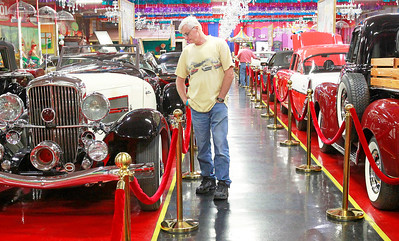 Candace H. Johnson Jerry Bolenow, of Chicago looks at the cars on display at the Volo Auto Museum in Volo.