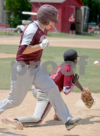 Morton and St. Joseph met in the summer baseball playoffs Monday