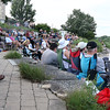 The crowd watches The Victory Travelers perform during a summer concert at RiverPark in Geneva July 9.