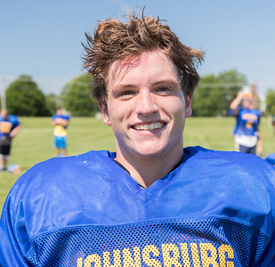 Johnsburg High School senior running back Jack Kegel during a practice Monday, July 17, 2017 in Johnsburg.  KKoontz-For Shaw Media
