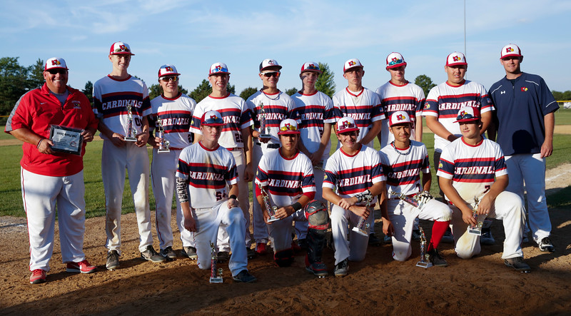 during the 15u championship game for the MCYSA International Baseball Tournament at Lippold Park on Sunday, July 30, 2017 in Crystal Lake, Illinois. Elite Baseball Training defeated the Crystal Lake Cardinals 6-5. John Konstantaras photo for the Northwest Herald