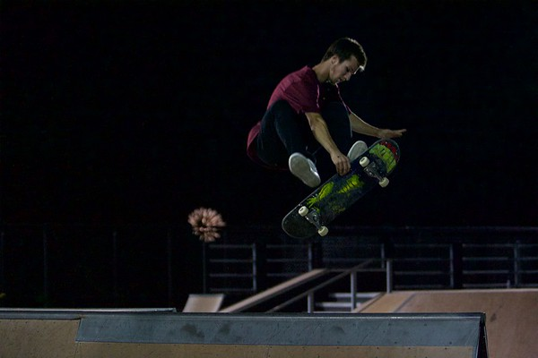 Josh Shafer from St. Francis , Wis. competes at the 4th Annual East Side Sports Complex skate competition in St. Charles on July 29.