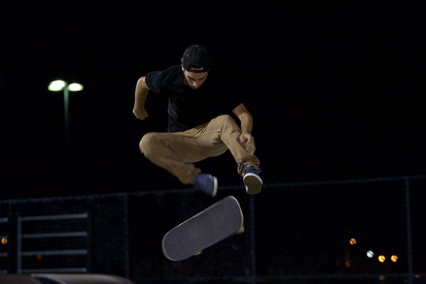 Joe Vizzaccero from Rochester, Mich. competes at the 4th Annual East Side Sports Complex skate competition in St. Charles on July 29.