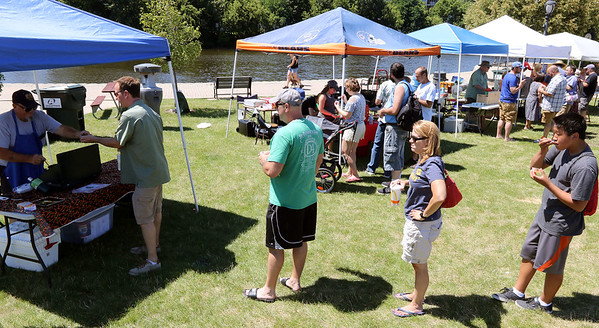 Chili was served from several tents during the 25th annual Illinois State Championship Chili Cook-Off hosted by the Batavia Park District and Batavia Chamber of Commerce at the Batavia Riverwalk July 29.
