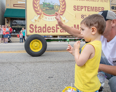Chevy Ray Levand (2yrs) watches the Fiesta Days Parade in McHenry Sunday, July 22, 2018. KKoontz – For Shaw Media