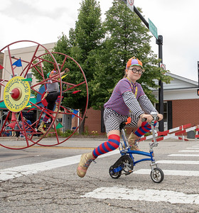 Clowning around on Green Street Sunday, July 22, 2018 during the annual Fiesta Days Parade in McHenry. KKoontz – For Shaw Media