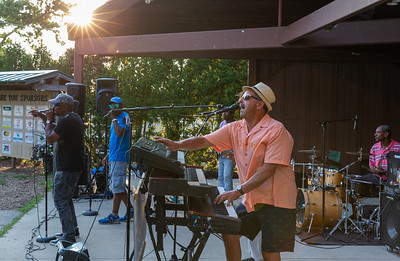 R-Gang, an R&B Motown band from Chicago, performs at Concerts at the Park at Main Beach in Crystal Lake Tuesday, July 24, 2018. KKoontz – For Shaw Media