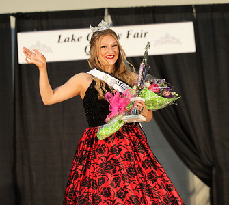 Candace H. Johnson-For Shaw Media Teaghan Callaway, 19, of Lake Villa waves to the crowd after winning the Miss Lake County Fair Queen Pageant at the Lake County Fair at the Lake County Fairgrounds in Grayslake. (7/25/18)