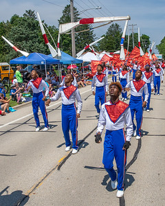 The South Shore Drill Team performs during the Crystal Lake Independence Day parade Sunday, July 7, 2019 in Crystal Lake.  KKoontz - For Shaw Media