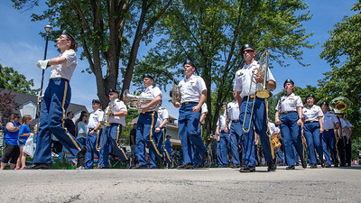 The Army marching band makes their way down Dole Avenue during the Crystal Lake Independence Day parade Sunday, July 7, 2019 in Crystal Lake.  KKoontz - For Shaw Media