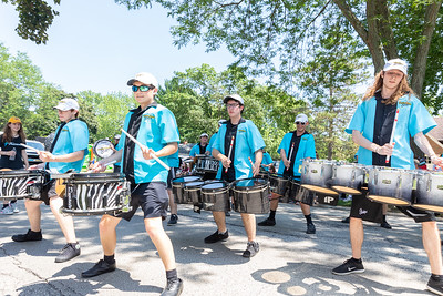 The Crystal Lake Strikers perform during the Crystal Lake Independence Day parade Sunday, July 7, 2019 on Dole Avenue in Crystal Lake.  KKoontz - For Shaw Media