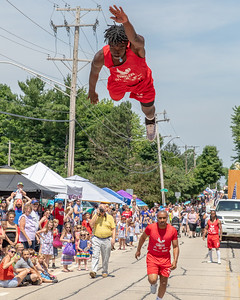 The Jesse White Tumblers perform during the Crystal Lake Independence Day parade Sunday, July 7, 2019 in Crystal Lake.  KKoontz - For Shaw Media