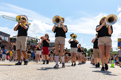 The McHenry High School Marching Band makes their way down Green Street during the 2019 Fiesta Days Parade Sunday, July 21, 2019 in McHenry. KKoontz – For Shaw Media