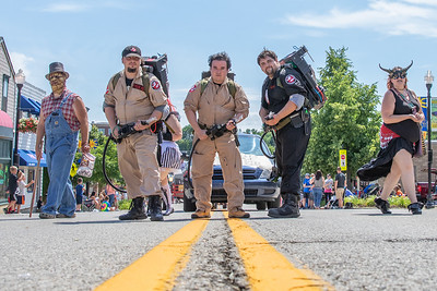 "The ""Ghostbusters"" makes their way up Green Street during the 2019 Fiesta Days Parade Sunday, July 21, 2019 in McHenry. KKoontz – For Shaw Media"