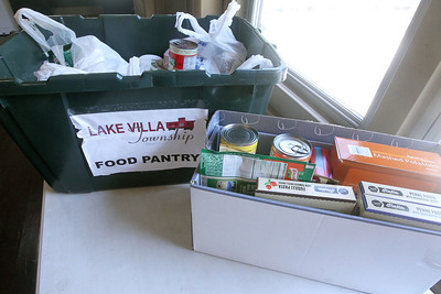 Candace H. Johnson-For Shaw Media Donated food for the Lake Villa Township Food Pantry was being collected during Camp Kindness Week at Lake Villa Township's Peacock Camp in Lake Villa. (7/23/19)