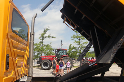 Candace H. Johnson-For Shaw Media Touch-a-Truck at the Metra parking lot next to the Round Lake Beach Cultural & Civic Center. (7/20/19)