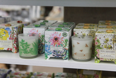 Candace H. Johnson-For Shaw Media A Pink Cactus soy wax candle and other bath and body essentials by Michel Design Works are featured at Hannah's on Lake Street in downtown Antioch. (6/26/20)