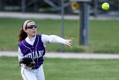 Mike Greene - mgreene@shawmedia.com Hononegah's Kirsten Cofoid throws a ball into second base after it got through the infield during the Class 4A Cary-Grove Sectional semifinals against Jacobs Friday, June 1, 2012 in Cary. Jacobs won the game 3-0 to advance to the finals Saturday against Carmel.