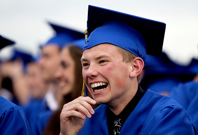 Sarah Nader - snader@shawmedia.com Jason Blumenthal listens to the speeches during 2012 Johnsburg High School Commencement on Friday, June 1, 2012. This fall Jewell plans to major in accounting at Northern Illinois University.