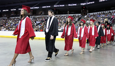 Jeff Krage – For the Northwest Herald The Huntley High School processional at the Sears Centre during Saturday's graduation ceremonies. Hoffman Estates 6/2/12