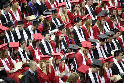 Jeff Krage for the Northwest Herald Huntley High School graduates in their seats at the Sears Centre during Saturday's graduation ceremonies.