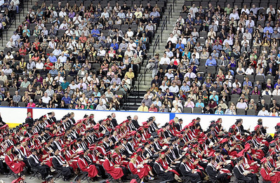 Jeff Krage for the Northwest Herald The Huntley High School graduation Saturday at the Sears Centre.