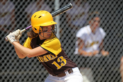 Mike Greene - mgreene@shawmedia.com Carmel's Madeline Felipez awaits a pitch during the Class 4A Cary-Grove Sectional finals against Jacobs Saturday, June 2, 2012 in Cary. Jacobs won the game 7-0 to advance to the Judson University Supersectional against Elk Grove Monday.