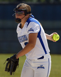 H. Rick Bamman - hbamman@shawmedia.com Burlington Central pitcher Angie Morrow faced Marengo batters.