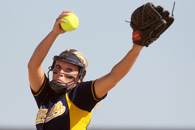 Mike Greene - mgreene@shawmedia.com Sterling's Stephanie Kester pitches during the first inning of the Class 3A Belvidere North Sectional Final against Marengo Monday, June 4, 2012 in Belvidere. Marengo won the game 2-1 to take home the sectional title.