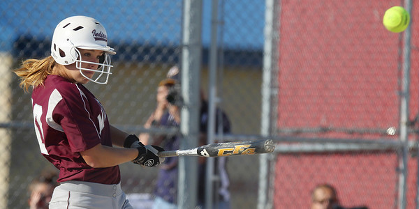 Mike Greene - mgreene@shawmedia.com Marengo's Megan Semro hits a single during the sixth inning of the Class 3A Belvidere North Sectional Final against Sterling Monday, June 4, 2012 in Belvidere. Marengo won the game 2-1 to take home the sectional title.