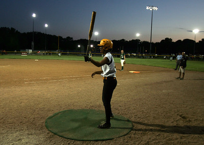 H. Rick Bamman - hbamman@shawmedia.com Jacobs' Tori Berg is on deck late in the seventh inning.