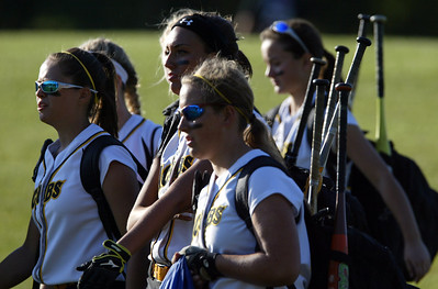H. Rick Bamman - hbamman@shawmedia.com Jacobs' players arrive at Judson University in Elgin to take on Elk Grove in the IHSA Class 4A Girls Softball Supersectional Monday, June 4, 2012 .