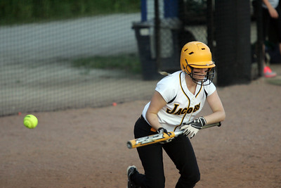 H. Rick Bamman - hbamman@shawmedia.com Jacobs' aganst Elk Grove during the IHSA Class 4A Girls Softball Supersectional Monday, June 4, 2012 at Judson University in Elgin. Jacobs lost 4-1.