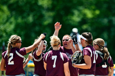 Skyler Edwards/For the Northwest Herald The Marengo Indians bring it in during the sixth inning of the IHSA Class 3A Championship Game against Glenbard South at EastSide Centre in East Peoria.