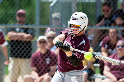 Skyler Edwards/For the Northwest Herald Marengo's Abby Kissack bats during the fifth inning of the IHSA Class 3A Championship Game against Glenbard South at EastSide Centre in East Peoria.