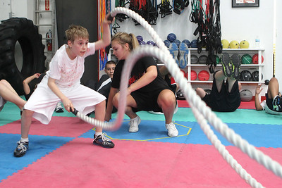 Mike Greene - mgreene@shawmedia.com Jackson Singleton, 10 of Crystal Lake, trains for the upcoming AAU Karate National Championships Saturday, June 30, 2012 at Focus Martial Arts and Fitness in Lake in the Hills.