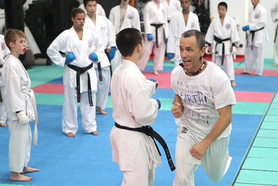 Mike Greene - mgreene@shawmedia.com Jim O'Hara, owner and sensei of Focus Martial Arts, instructs his students training for the upcoming AAU Karate National Championships Saturday, June 30, 2012 in Lake in the Hills.