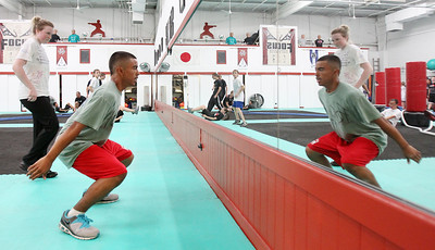 Mike Greene - mgreene@shawmedia.com Jose Mestey, 14 of Algonquin, trains for the upcoming AAU Karate National Championships Saturday, June 30, 2012 at Focus Martial Arts and Fitness in Lake in the Hills.