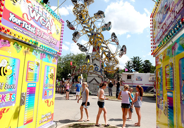 The carnival area during the opening day of Swedish Days in downtown Geneva Tuesday.