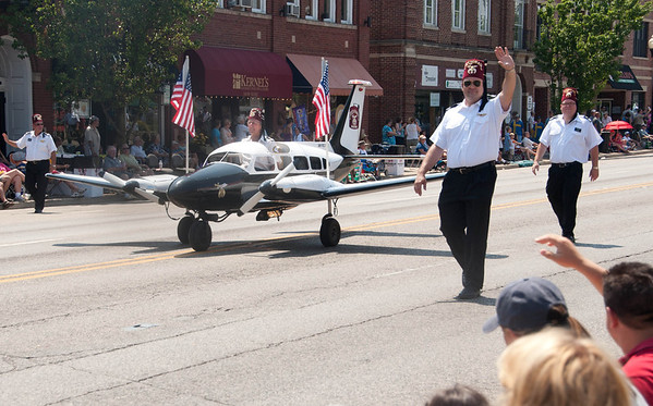 The Medina Aviators greet the Swedish Days Parade crowd on Route 38 in Geneva Sunday afternoon.
