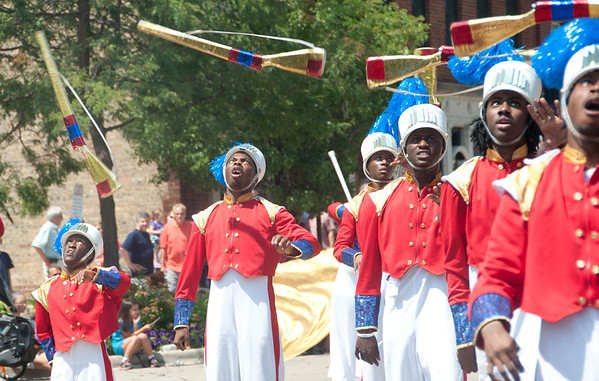 The South Shore Drill Team march, dance and perform during the Swedish Days Parade in Geneva Sunday afternoon.