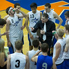 St. Charles North's head coach Todd Weimer talks to his team during their state quarterfinal game at Hoffman Estates High School in Hoffman Estates, IL on Friday, May 31, 2013 (Sean King for The Kane County Chronicle)