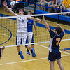 St. Charles North's Jake Hamilton (12) goes for a dink against Oak Park-River Forest during their state quarterfinal game at Hoffman Estates High School in Hoffman Estates, IL on Friday, May 31, 2013 (Sean King for The Kane County Chronicle)