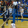 St. Charles North's Jake Hamilton (12) goes up for a kill against Oak Park-River Forest during their state quarterfinal game at Hoffman Estates High School in Hoffman Estates, IL on Friday, May 31, 2013 (Sean King for The Kane County Chronicle)