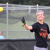 St. Charles East softball player Tess Hupe practices with her teammates on Wednesday morning. The St. Charles East softball team will take on Barrington in the IHSA state semifinal at the EastSide Centre in East Peoria on Friday.