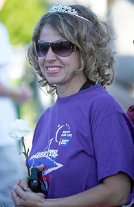 Five year survivor Kristina Browne, Crystal Lake. The annual Relay For Life for the Barrington area brings survivors, care-takers and volutneers to the athletic track at Barrington High School to celebrate life, honor the memory of those gone and help raise funds for research and a cure.. | Joe Cyganowski-For Barrington Life