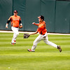 St. Charles East's Brannon Barry makes a catch in right field during their IHSA 4A third place game against Neuqua Valley Saturday in Joliet. East won the game 6-4.