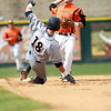 St. Charles East's Jack Dellostritto gets Drew Sterioti of Neuqua Valley out at second during their IHSA 4A third place game Saturday in Joliet. East won the game 6-4.