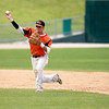 St. Charles East's Nick Erickson throws to first during their IHSA 4A third place game against Neuqua Valley Saturday in Joliet. East won the game 6-4.